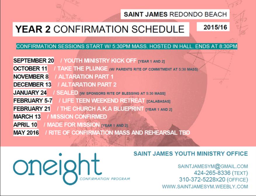 Year 2 Confirmation – St  James Catholic Church